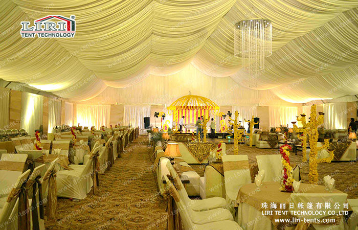 wedding tent inside