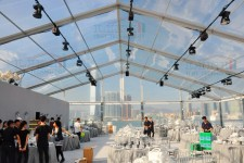Transparent tent for wedding