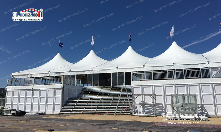 double decker tent for wedding