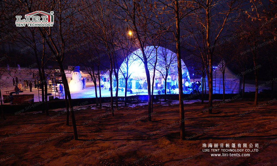geodesic tent for event