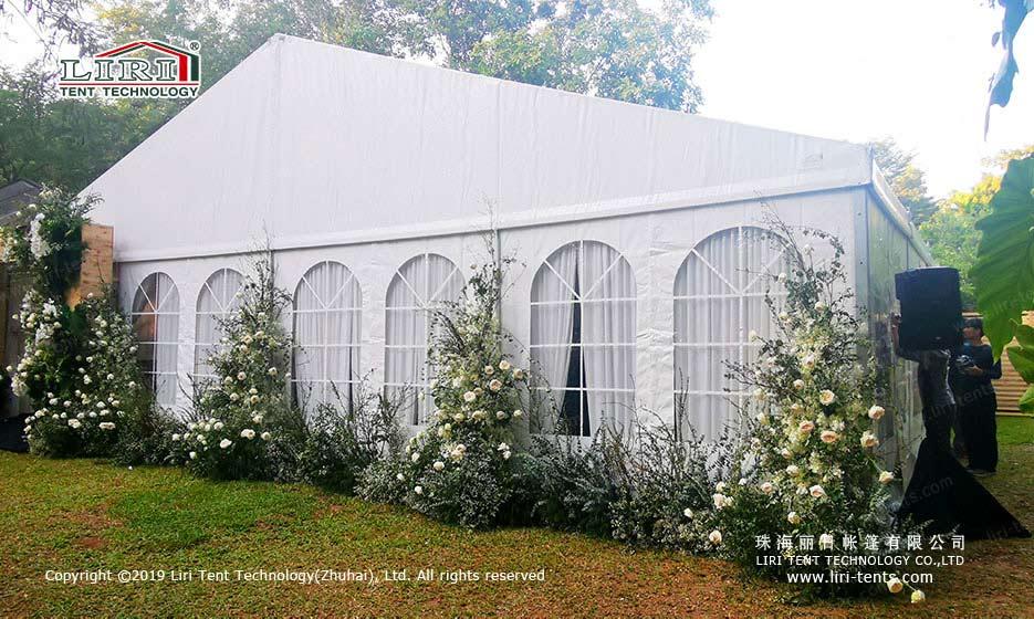 Wedding tent interior design